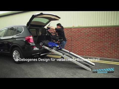 Elektromobil Rollstuhlrampe Mit Schwarzer Anti-Rutsch Behaftung