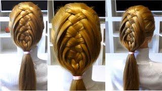 Прическа в школу своими руками/Прически с плетением 🔴 School Hairstyles with own hands