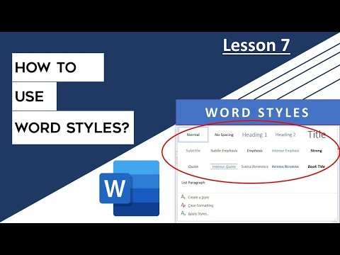 How to use Styles in Microsoft Word 2016 Tutorial | The Teacher