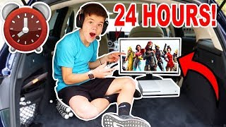 24 HOUR OVERNIGHT CHALLENGE IN A CAR!