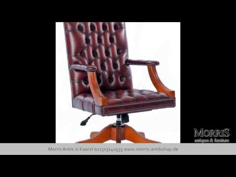 Chesterfield Stühle im Büro und Wohnzimmer