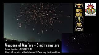 Weapons of Warfare - 5 Inch Shells - Pyroland Fireworks