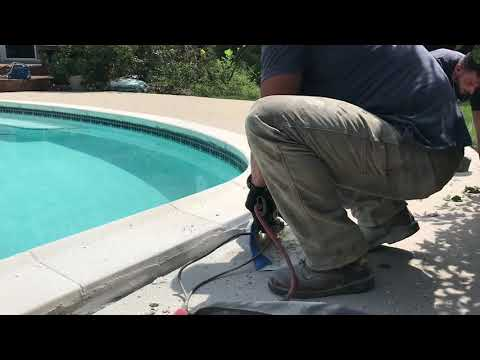 PolyLevel Pool Deck Concrete Repair