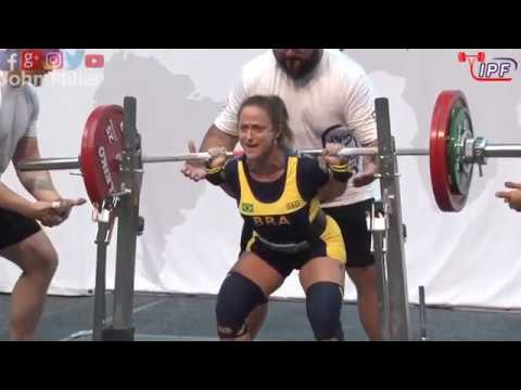 Vanessa Alvares - 12th Place 380kg Total - 57kg Class 2019 Womens IPF Classic Worlds