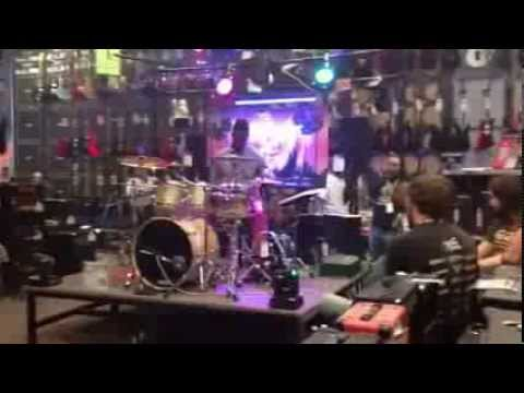 DrummerBoy Montgomery at Guitar Center of Mobile Drum-off 2013