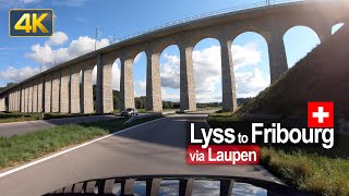 Driving from Lyss to Fribourg | Road Trip in Switzerland 🇨🇭