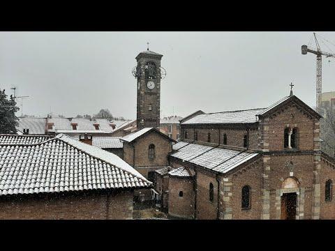 ❄Prima neve a Milano ❄ dicembre 2020 🔷️ Первый снег в Милане ❄ декабрь 2020