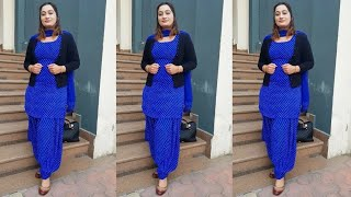 Top 35+ Royal Blue Punjabi Suits With Contract Dupatta Designs Ll Latest Blue Punjabi Suits