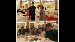 171214. Song Hye Kyo with Woo Hyo Kwang and Choo Ja Hyun at dinner banquet in Beijing, China