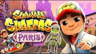 Subway Surfers Gameplay | Tagbot en Paris y Mystery Box | Juego para niños