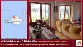 preview picture of video '4 Schlafzimmern 3 Bäder Villa zu verkaufen in Santa Maria Del Cami, Mallorca, Spain'