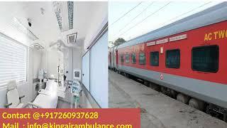 Get King Train Ambulance Services from Mumbai and Chennai