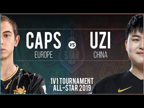 Caps Qiyana vs Uzi Vayne - All-Star Las Vegas 2019 1v1 Round of 8 - Caps vs Uzi