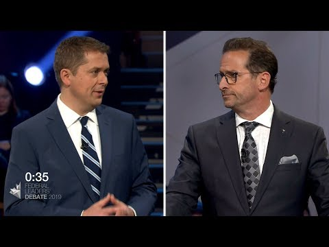Blanchet and Scheer debate over the future of pipeline projects in Quebec