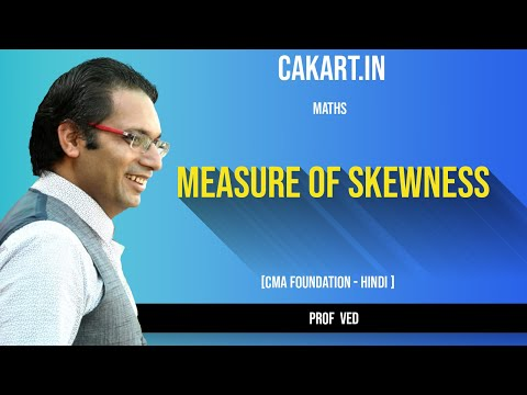 Measure of skewness Maths lecture by prof ved