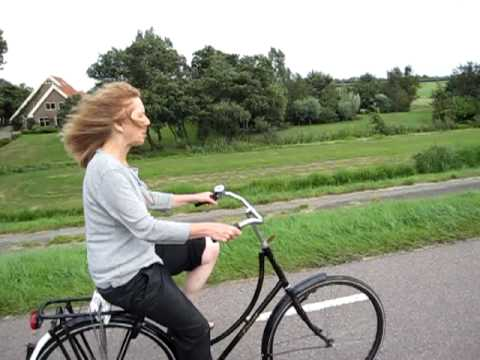 Mom and I biking Holland!