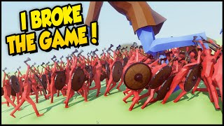 I BROKE THE GAME! Massive Viking Army & Ballista Army v Giant Man• Totally Accurate Battle Simulator