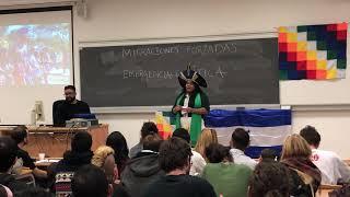 Sonia Guajajara en la Cumbre Social del Clima, en la Universidad Complutense de Madrid, COP25