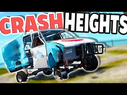 Which Car Can Survive The Car GRINDER?! - BeamNG Drive Crash Heights Map Mod