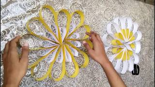 How To Make Wall Decroration with paper| Easy Diy home decor Ideas  2018 - Video Youtube