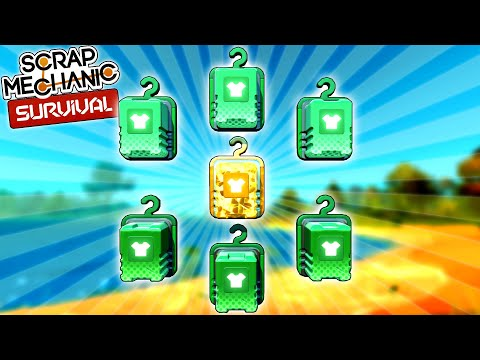 15 Garment Boxes and a New Epic Box Unboxing!  - Scrap Mechanic Survival Mode [SMS 20]