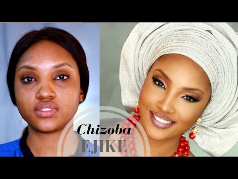 Chizoba Ejike in Nigerian Bride Traditional Makeup + Gele Inspiration | Belle vs Bombshell Series