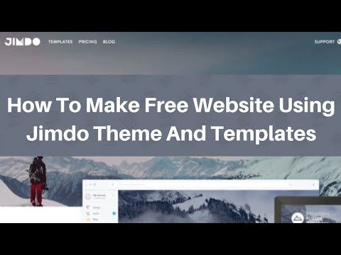 Free website using jimdo theme and templates