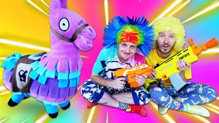 Игры стрелки онлайн - Бластер Нерф ФОРТНАЙТ против мобов! – Видео для мальчиков с игрушками.