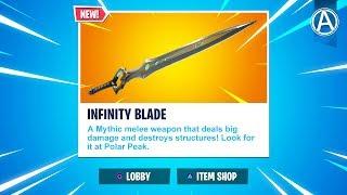 "NEW ""INFINITY BLADE"" in Fortnite Battle Royale! (Fortnite Content Update V7.01)"