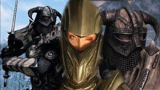 Skyrim обзор модов: Улучшенные шлемы; Тяжелая драконья эбонитовая броня; Falasmaryon.