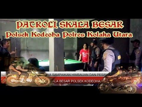 PATROLI SKALA BESAR POLSEK KODEOHA POLRES KOLAKA UTARA