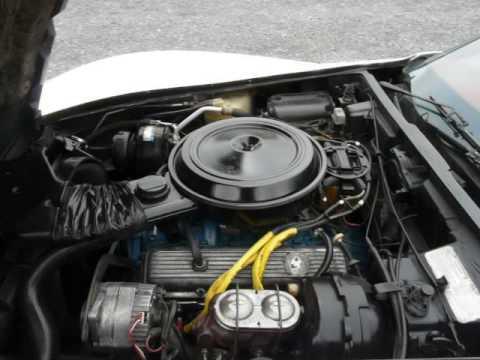 1977 White L82 4spd Corvette Stingray For Sale Red Int Video