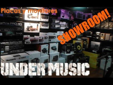 Conociendo UNDER MUSIC #2 - Piso de interfaces de sonido, monitores, microfonos USB