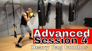 ADVANCED HEAVY BAG Combinations | Session 4 by NateBowerFitness