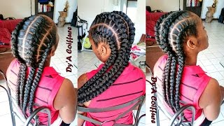 HOW TO ★ 4 feed in stitch braids - By Dy'A