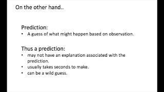Hypothesis vs Prediction 1