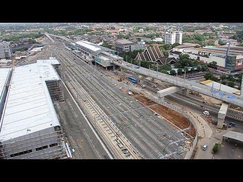 Progres Pembangunan Depo Mass Rapid Transit (MRT) Lebak Bulus