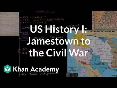 US History Overview 1: Jamestown to the Civil War (video