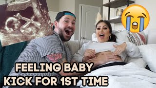 Feeling BABY KICK for FIRST TIME! *So Sweet* & NURSERY UPDATE