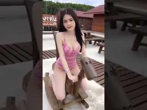 Sexy girl riding horse