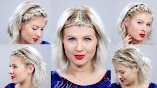 5 Braided Headbands For Short Hair Tutorial   Milabu