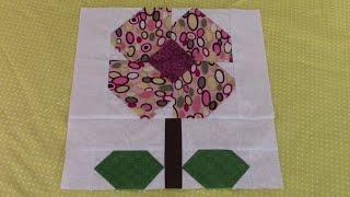 Beginners Botanical Quilt Block #7