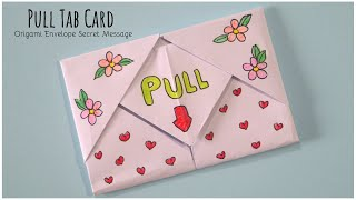 Pull tab Card Origami Envelope Card | Letter Folding Origami | Teachers Day Card | DIY Greeting Card