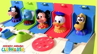 "Learn colors with Disney Baby Mickey Mouse Clubhouse Pop-Up Surprise Pals from Disney Baby presented by Blu Toys Surprise Brinquedos & Juegos.  To make them pop open you have to push, slide, turn, dial & switch the buttons. Each Disney character has a different color & number on the top. Also learn sizes and colors with Disney-Collector at:  http://www.youtube.com/DisneyCollectorBR/  Here's how Mickey is called in other languages: ""La Casa de Mickey Mouse"" ""Clubul lui Mickey Mouse"" ""La Maison de Mickey"" y ""Micky Maus Wunderhaus"" ""La casa di Topolino"" ""A Casa de Mickey Mouse"" ""Klub przyjaciół Myszki Miki"" ""ミッキーマウス クラブハウス""  ""Mickey Mousekersize"" ""будинок Міккі Мауса"" ""Micky Maus Wunderhaus Spielplatz"" ""L'allegra casa di Topolino"" y  ""Speeltuin Clubhuis""  ""το σπίτι του Μίκυ Μάους"" ""дом Микки Мауса"" ""미키 마우스의 집"" ""ミッキーマウスの家"".  Cars Lightning McQueen Gear Up and Go race car. https://www.youtube.com/watch?v=sYLLxOE5GoM  151 ""Giant Surprise Eggs"" Play-Doh BubbleGuppies Pocoyo BFF. https://www.youtube.com/watch?v=P0y8tFhAKEA  150 Surprise-Boxes! Kinder StarWars Marvel Avengers LEGO.  https://www.youtube.com/watch?v=SeNM2JcyeLQ  115 ""Toy Surprise Eggs"" PawPatrol Pocoyo Peppa Frozen https://www.youtube.com/watch?v=R-Or5mYWCrQ  105 ""Surprise Eggs"" DisneyFrozen Cookie-Monster Pocoyo.  https://www.youtube.com/watch?v=gKaI4SVt7TE   101 Huevos-Sorpresa MiPequeñoPony ""Frozen El Reino del hielo"". https://www.youtube.com/watch?v=Bd4YzrqWsY0  100 ""Huevos Sorpresa"" PlayDough StarWars Marvel Avengers. https://www.youtube.com/watch?v=obiPHmWeCHM  75 HuevosSorpresa! PawPatrol Pocoyo BubbleGuppies Play-Doh https://www.youtube.com/watch?v=2i4OuYKf-V8   60 ""Surprise Eggs"" Nickelodeon Play-Doh HotWheels Cars MLP. https://www.youtube.com/watch?v=XVBhxtkkMBE  50 ""SURPRISE BOXES"" Marvel AngryBirds Spiderman Avengers. https://www.youtube.com/watch?v=B-J_qkX4xqg"