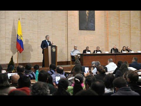 Presidente Duque en la Conferencia Episcopal Asamblea preparatoria Sínodo de la Amazonía