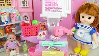 Baby doll food mart register play Doli house