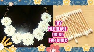 DIY Necklace Using Ear Buds -q Tip Jewelry