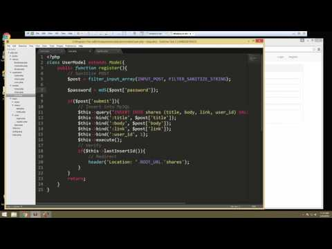 Learn How to Build a Complete PHP Application with Login – Video 2
