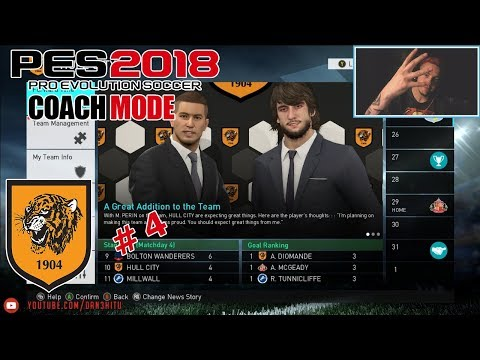 #4 PES 2018 - Championship to Premier League! Hull City
