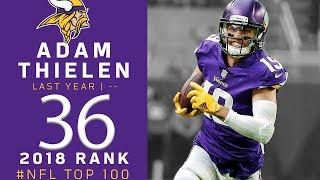 #36: Adam Thielen (WR, Vikings) | Top 100 Players of 2018 | NFL